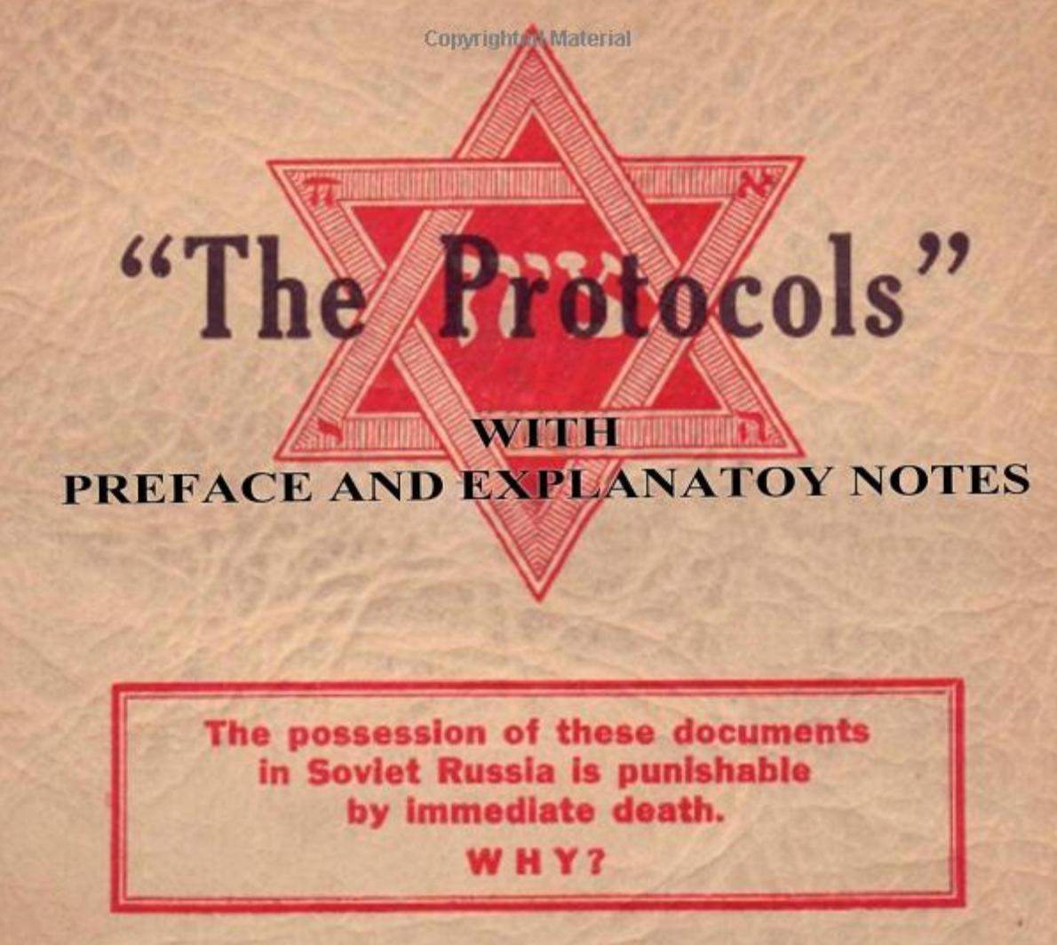 <p><em>Sions vises protokoller</em> har utkommet på en lang rekke språk. Her er en amerikansk utgave fra 1934.</p>